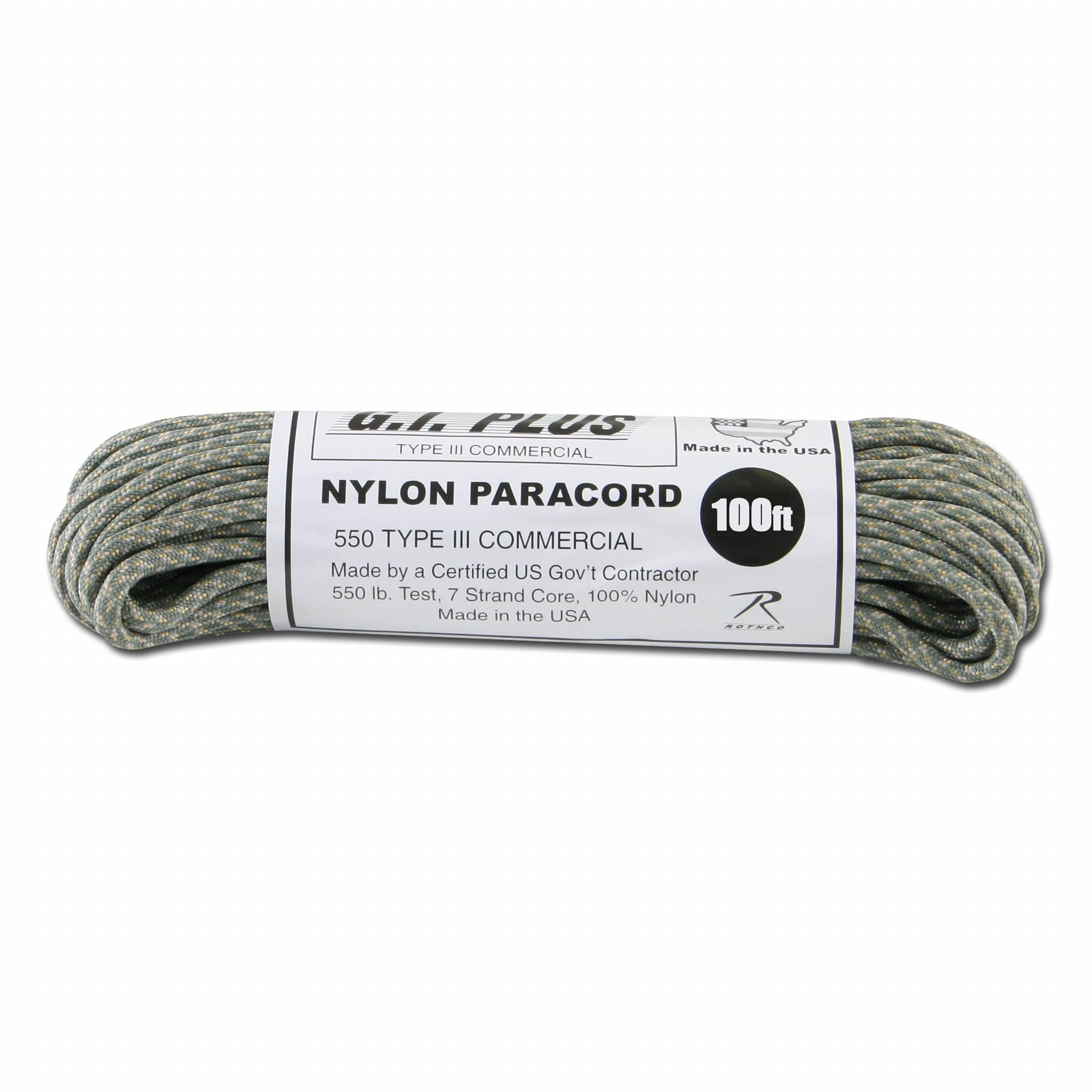 Paracord 550 lb AT digital 100 ft Nylon