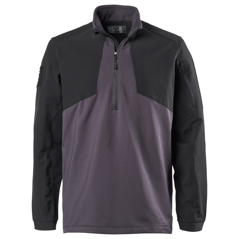 5.11 Sweatshirt Thunderbold Half Zip charcoal